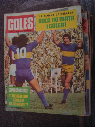 revista goles 1313 12/3/74 potente chabay all boys santoro