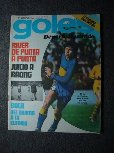 revista goles 1394 7/10/75 river racing boca biasutto dazzan