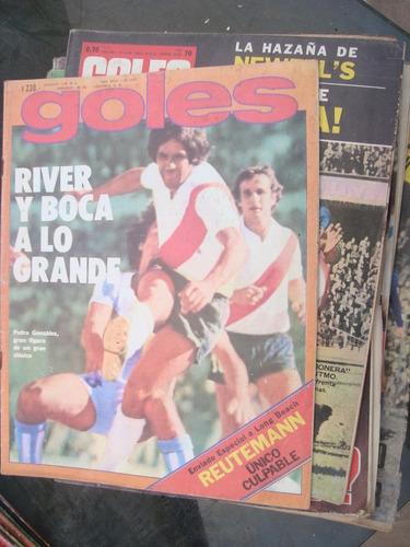 revista goles 1472 5/4/77 charro moreno poster: selecc argen