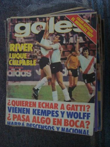 revista goles 1499 11/10/77 castellini boca river gatti wolf
