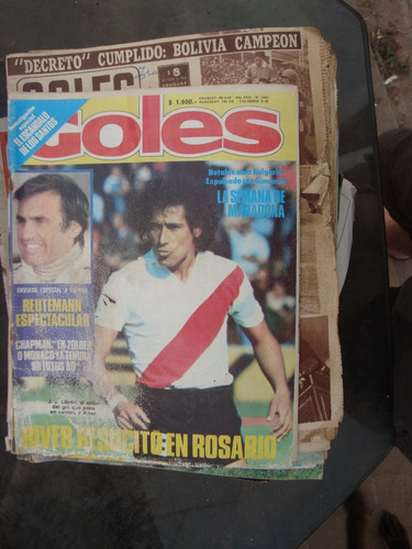 revista goles 1583 1/5/79 maradona corro yazalde mouzo