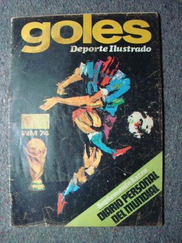 revista goles diario del mundial 74 fixture