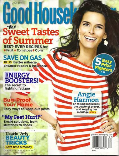 revista good house keeping: angie harmon / patrick dempsey
