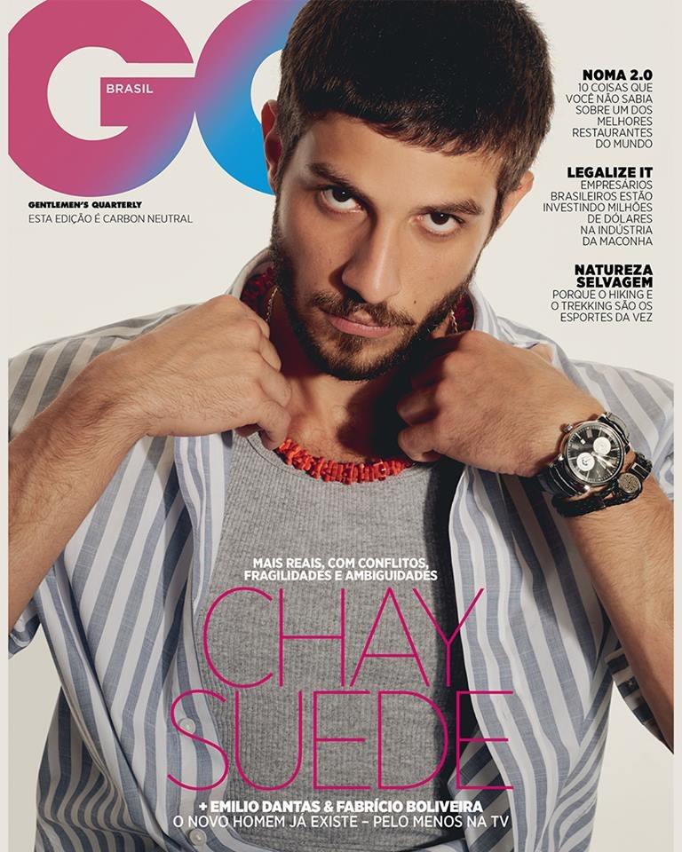 7507d9b5e1 Revista Gq Brasil   Chay Suede Set 2018 Nova! - R  29