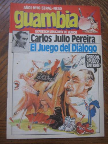 revista guambia n°16, reportaje a carlos julio pereira