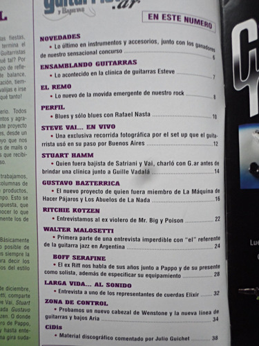 revista guitarristas y bajistas nº 10, año 2, steve vai