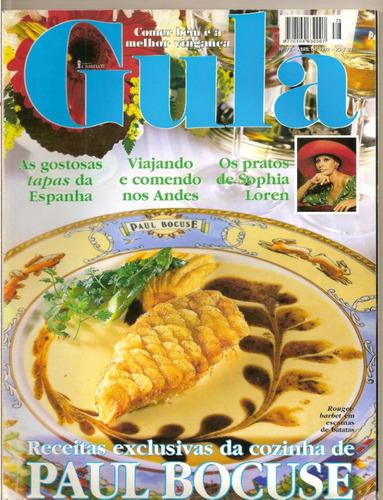 revista gula - os pratos de sophia loren/ paul bocuse...
