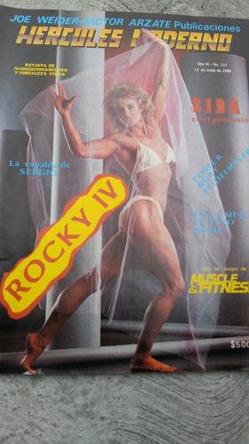 revista hercules moderno 1986, rocky iv