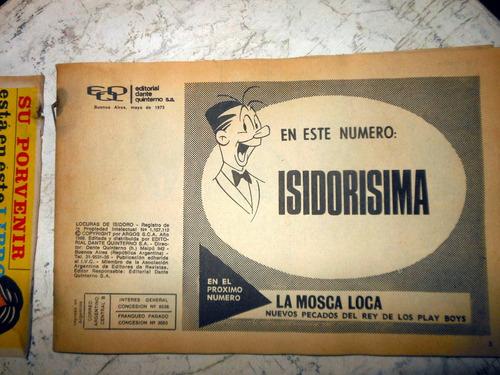 revista historietas locuras de isidoro - n°60 - mayo 1973
