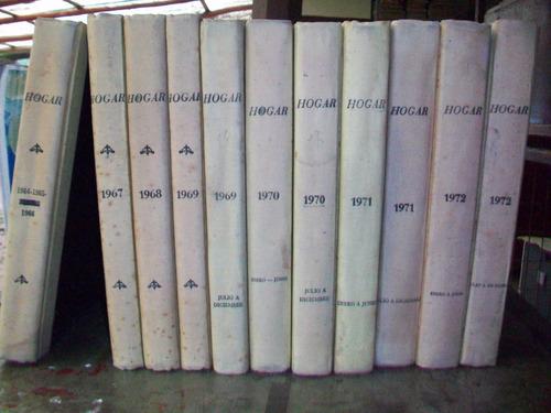 revista hogar, empastados 6 revistas cada tomo, varios años
