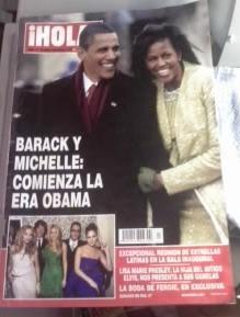 revista hola! aparece barack y michelle:comienza la era obam