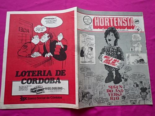 revista hortensia n° 40 - agosto de 1973 humor de cordoba