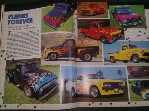 revista hot rod 1985 reportaje trucos pintado de llamas