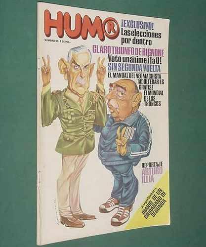 revista humor 85 - jul82 - arturo illia damian josé sanchez