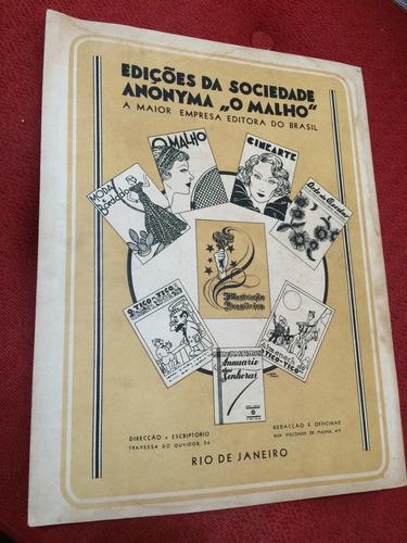 revista ilustração brasileira n 6 de 1935 rara  ótimo estado