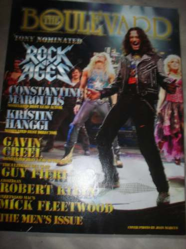 revista importada - the boulevard - rock of ages -julho 2009