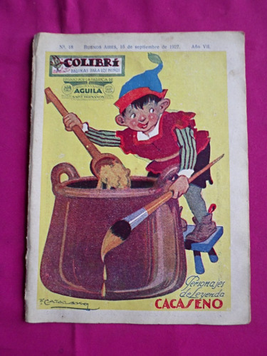 revista infantil colibri n° 18 año 1927 cacaseno aguila