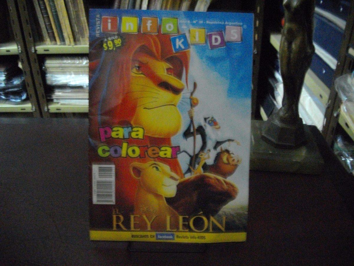 Revista Info-kids, El Rey León, Año 4, N° 38 (para Colorear) - $ 45 ...