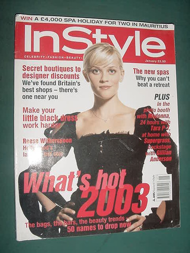 revista instyle jan/3 reese witherspoon audrey tautou beauty