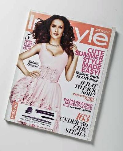 revista instyle # julho 2012 - selma hayek usa(usada)