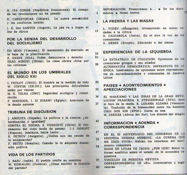 Revista Internacional Diciembre 1989 Comunismo - $ 60,00 en Mercado ...