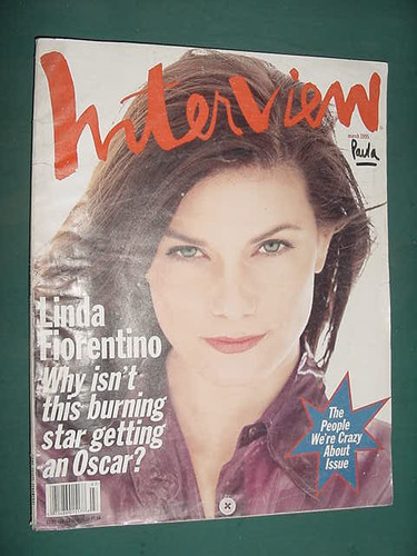 revista interview mar95 importada ingles linda fiorentino
