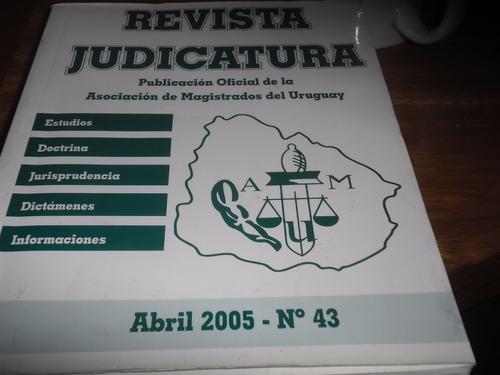 revista  judicatura abril 2005 numero 43