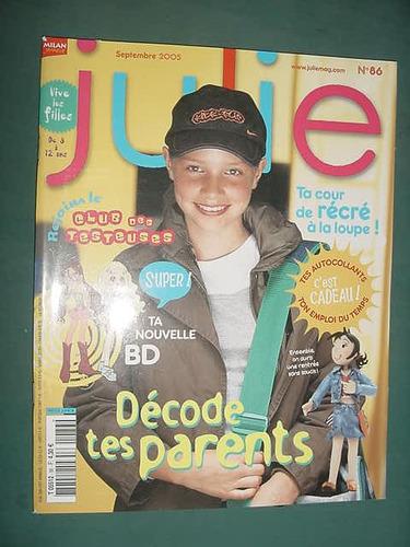 revista julie 86 importada sep/05 infantil moda adolescentes