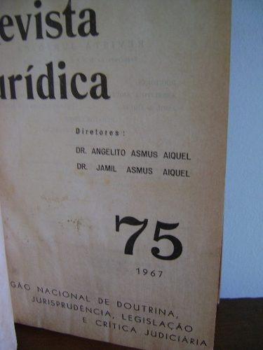 revista jurídica 75/1967 - sulina