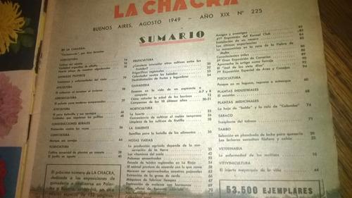 revista  la chacra  agosto 1949