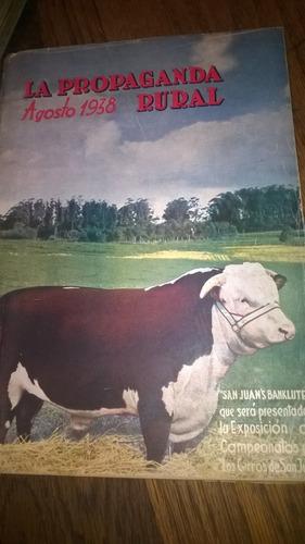 revista  la propaganda rural  agosto 1938 (uruguay)