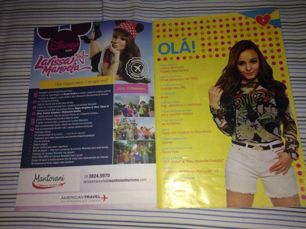 06a090a673359 Revista Larissa Manoela Poster Duplo Paper Toys R 37,99 - R  37,99 em Mercado  Livre