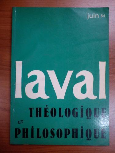 revista laval - thèologique et philosophique - en francès