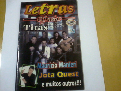 revista letras cifradas nº6 titãs maurício manieri