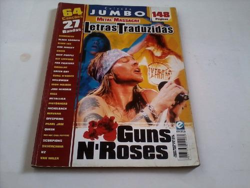 revista letras traduzidas - guns n´ roses.frete grátis