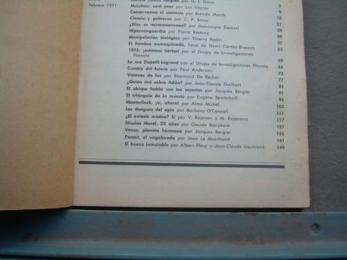 revista libro nuevo planeta enero  febrero 1971