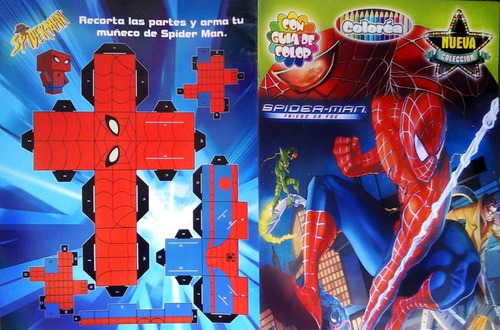 revista libro para colorear de spiderman