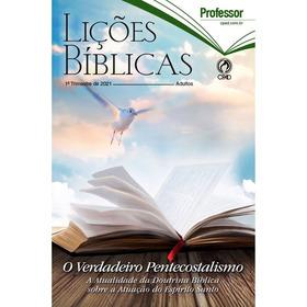 Revista Lições Bíblicas Adulto Professor - Escola Dominical