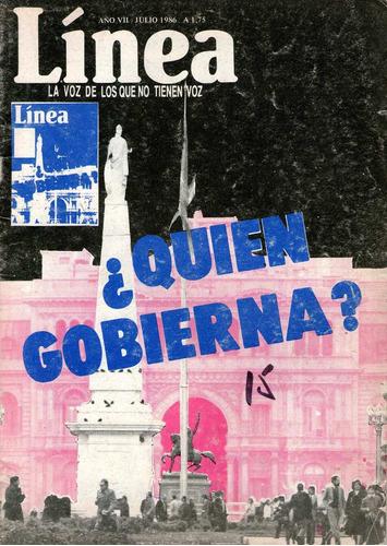 revista línea, año 1986