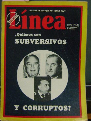 revista linea, año 3, n° 31 subversivos y corruptos?