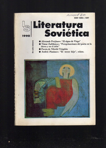revista literatura sovietica - nº 501 - año 1990