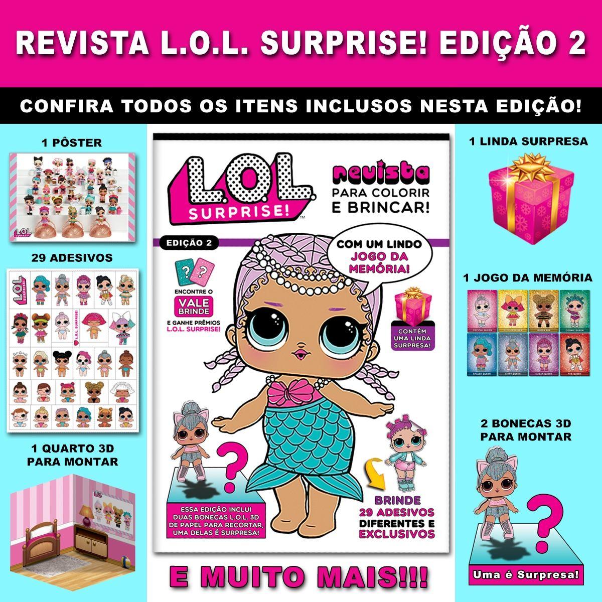 Revista Lol Surprise Lindo Quebra Cabeça Com 200 Peças