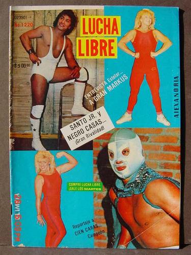 revista lucha libre santo jr. negro casas luchadores 1987