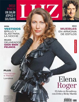 revista luz 376 elena roger diego peretti vestidos glam