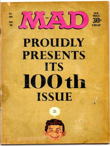 revista mad #100 - enero 1966 - de colección!