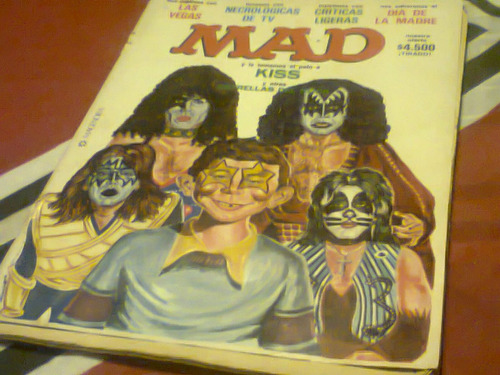 revista mad argentina 43 tapa kiss coleccion rara retro kxz