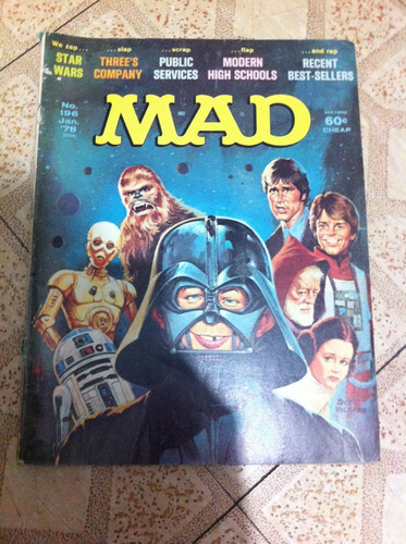 revista mad de star wars de los 70's en ingles