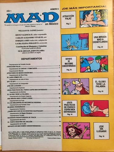 revista mad mexicana año 1 n°5