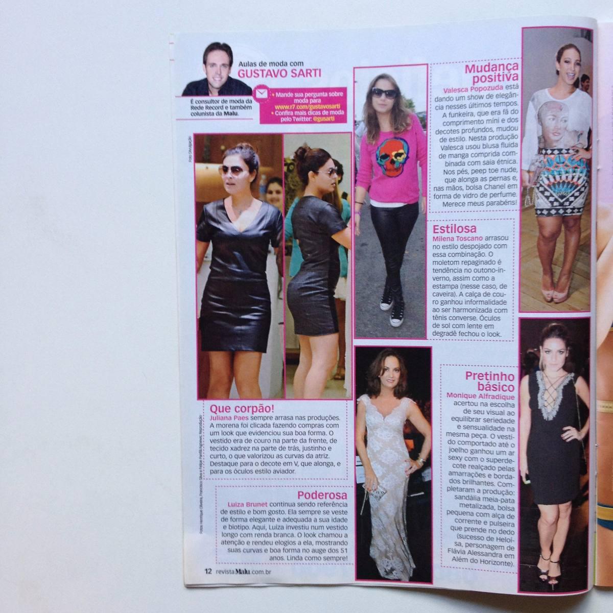 bce7cc25e Revista Malu Fernanda Lima Rodrigo Hilbert Ano 2014 - R  20