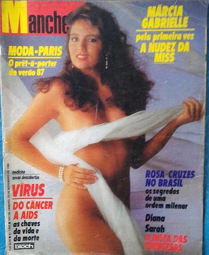 revista manchete - 11-1986 - márcia gabrielle